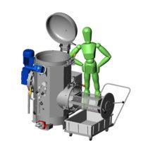 Machine t100 : traitement des déchets hospitaliers