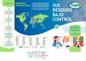 ECODAS FOLLETO COMERCIAL :Tratamiento de residuos infecciosos y hospitalarios, DASRI