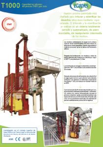 Hoja de datos T1000: máquina de tratamiento de residuos infecciosos