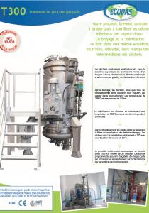 Fiche technique T300 : machine de traitement des déchets médicaux